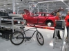 Tesla workers get around the massive factory on bikes or golf carts: this one is an Electra - of course