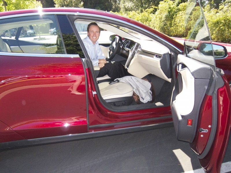 The first Tesla Model S with Steve Jurvetson