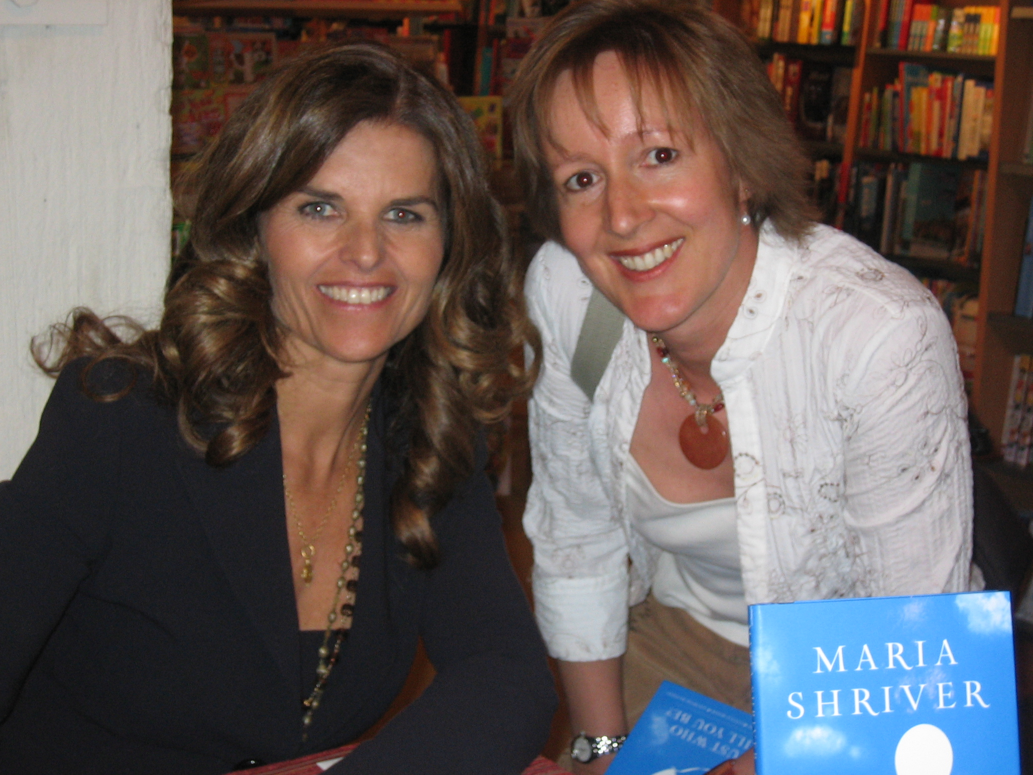 Maria Shriver with siliconmom in Palo Alto CA
