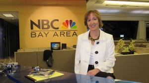 Alison van Diggelen at NBC studio Bay Area