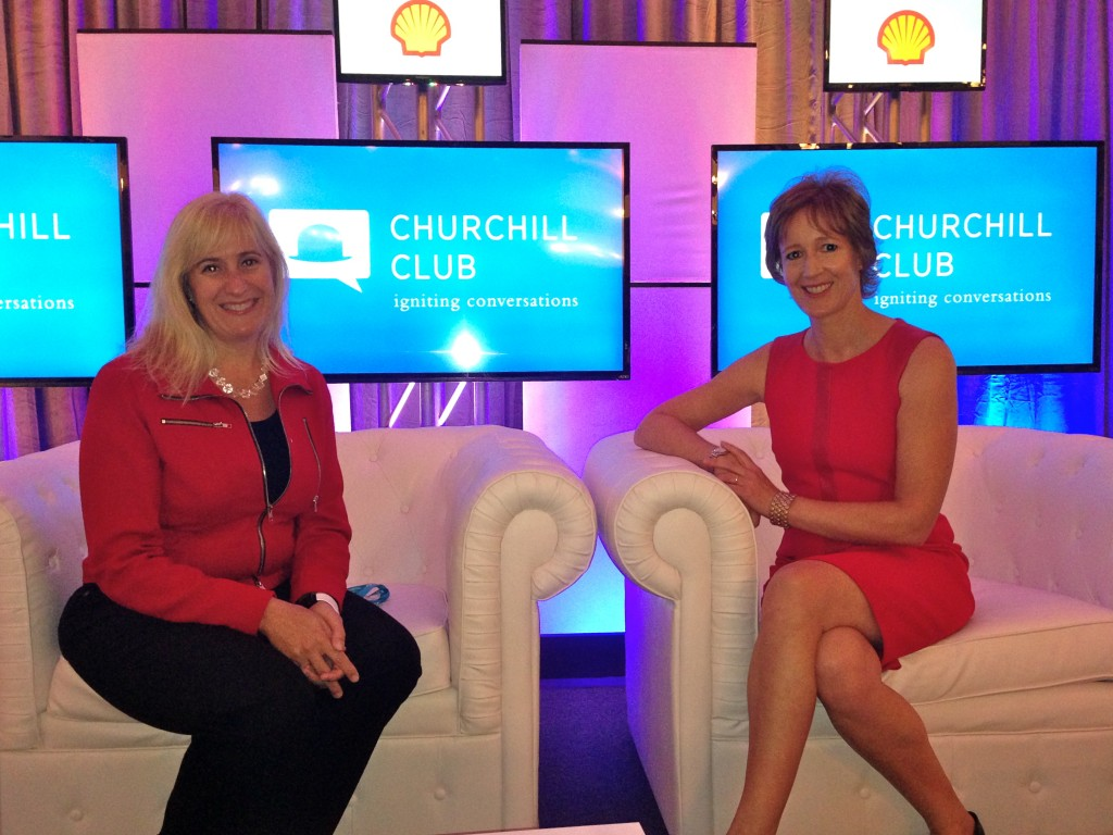 Laurie Yoler & Alison van Diggelen at the Churchill Club, September 2013