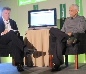 Vinod Khosla and Tony Perkins, at GoingGreen 09 -Fresh Dialogues