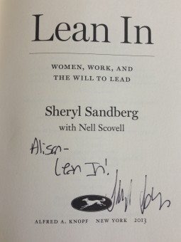 Sheryl Sandberg urges all women to Lean In. Photo: Fresh Dialogues
