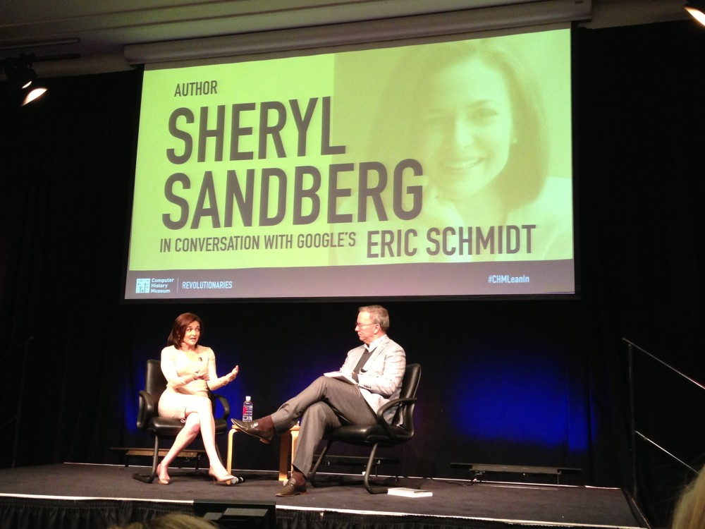 Sheryl Sandberg Leans In with Eric Schmidt In Silicon Valley