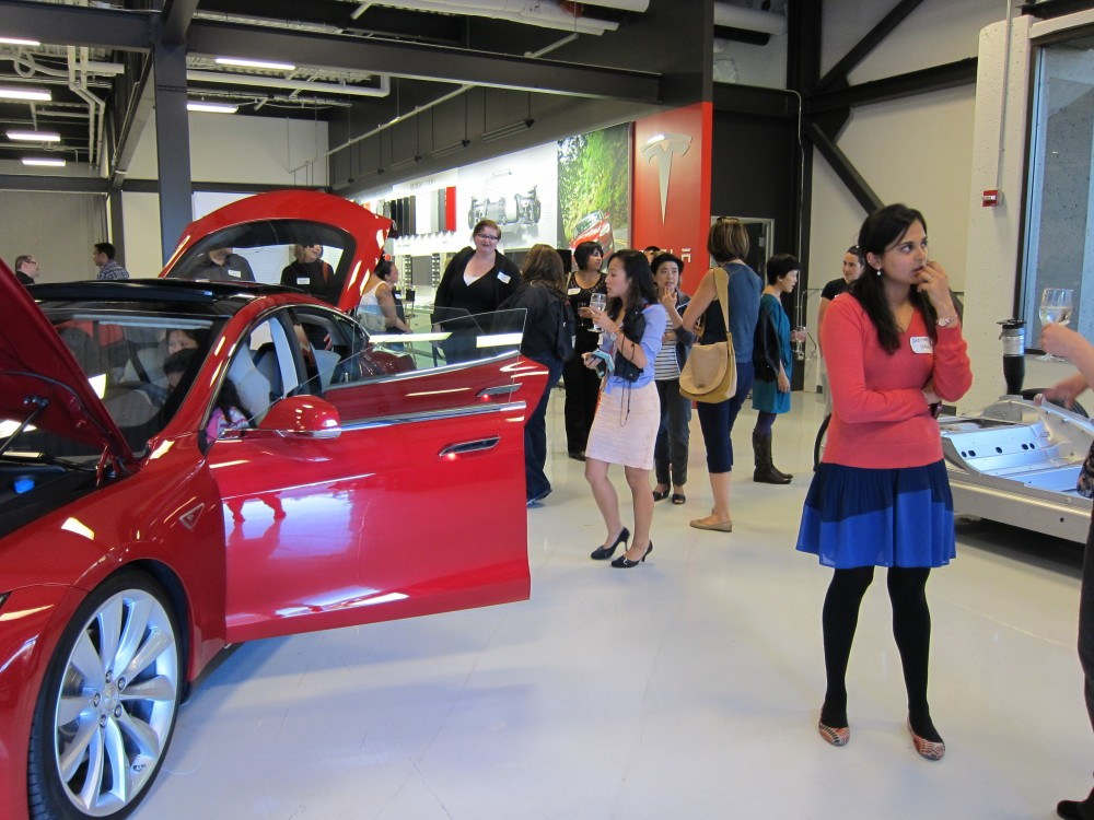 Girl Geeks Descend On Tesla in Silicon Valley
