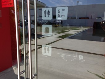 Tesla's LA SuperCharger, at SpaceX, photo by Alison van Diggelen