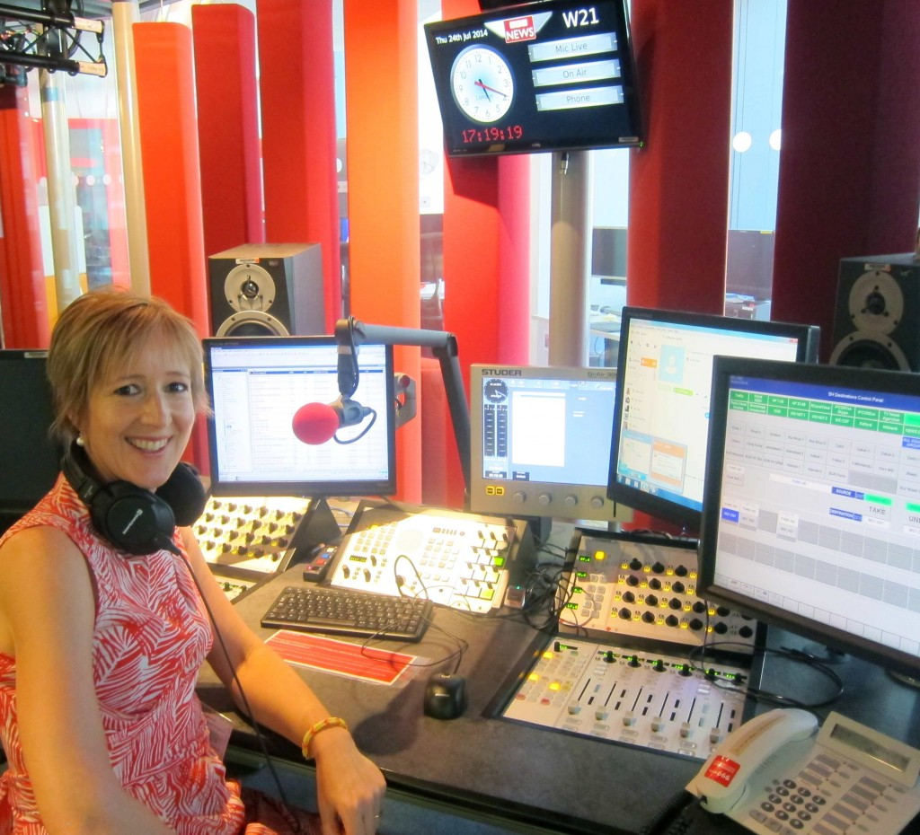 Alison van Diggelen at London's BBC studio