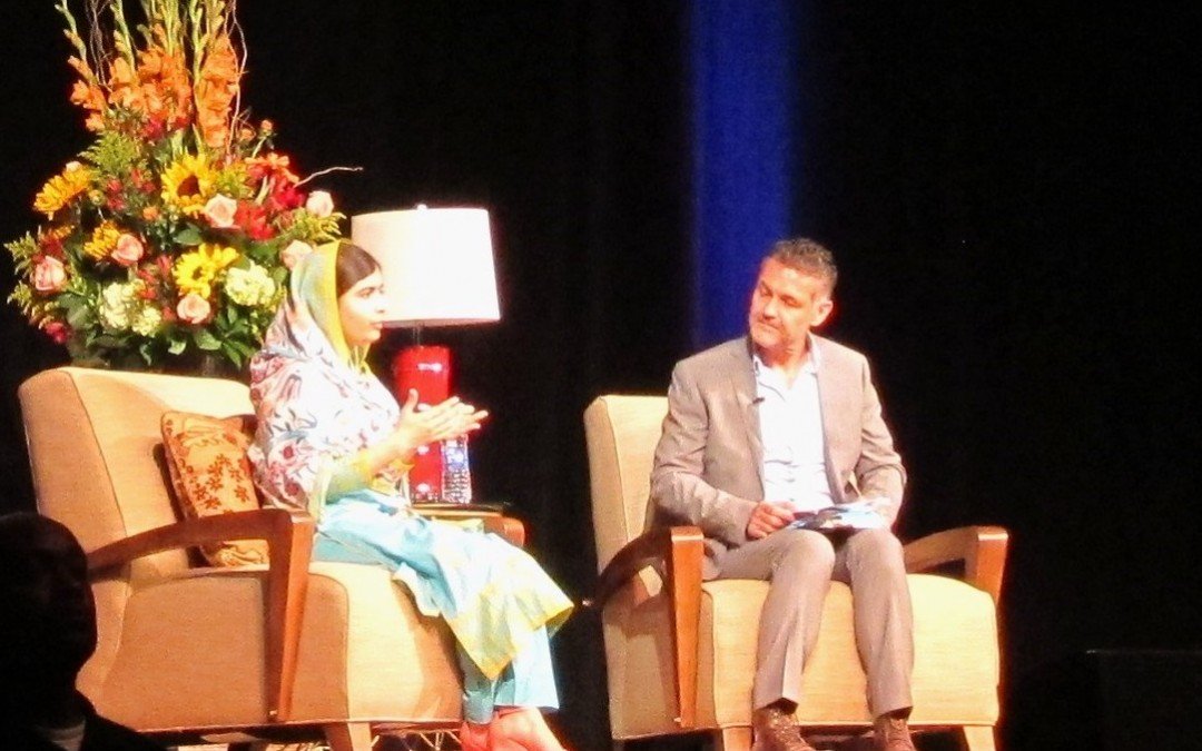 Malala Takes Silicon Valley Stage with Favorite Author, Khaled Hosseini