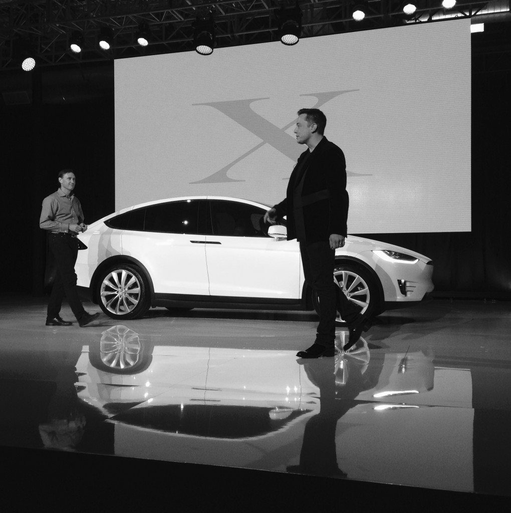 Steve Jurvetson & Elon Musk w Model X Photo credit Alison van Diggelen