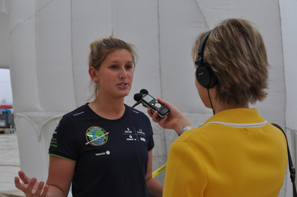 Paige Kassalen interview w Alison van Diggelen for BBC Solar Impulse