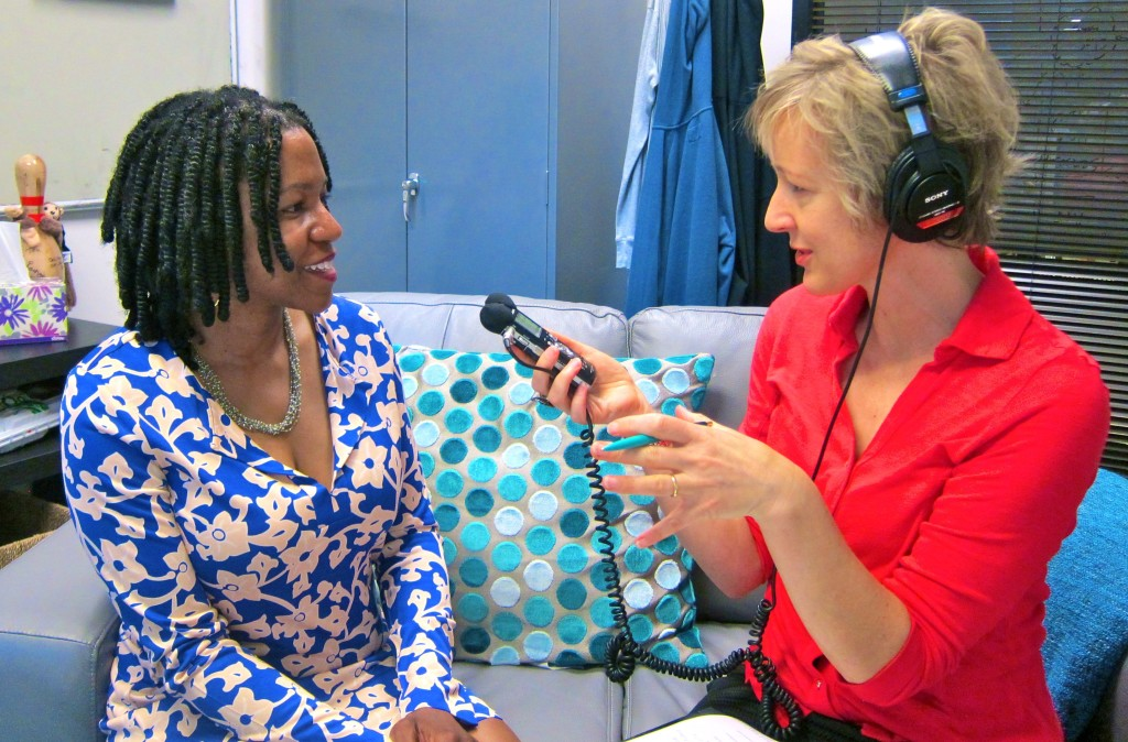TaskRabbit CEO Stacy Brown Philpot w Alison van Diggelen for BBC WS interview