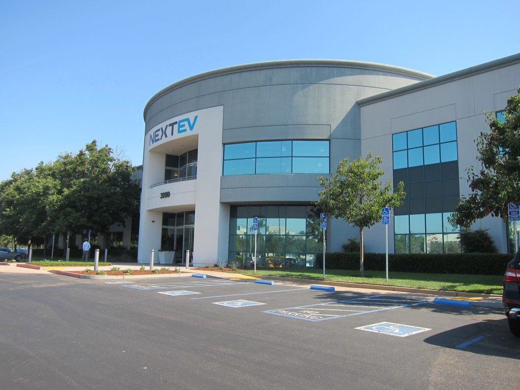 NextEV US HQ, photo by Alison van Diggelen for BBC report