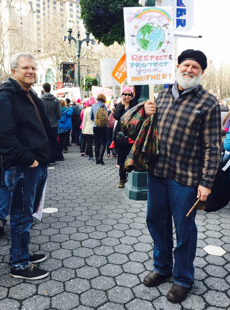 Patrick Adams SV Trump Protest Jan 21 2017. Photo by Alison van Diggelen