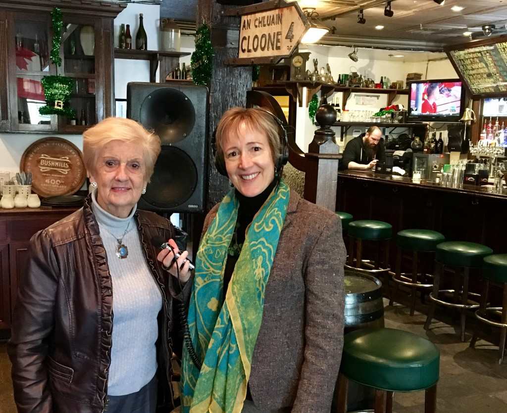Marie O'Flaherty at O'Flaherty Irish Pub SJ, interview by Alison van Diggelen