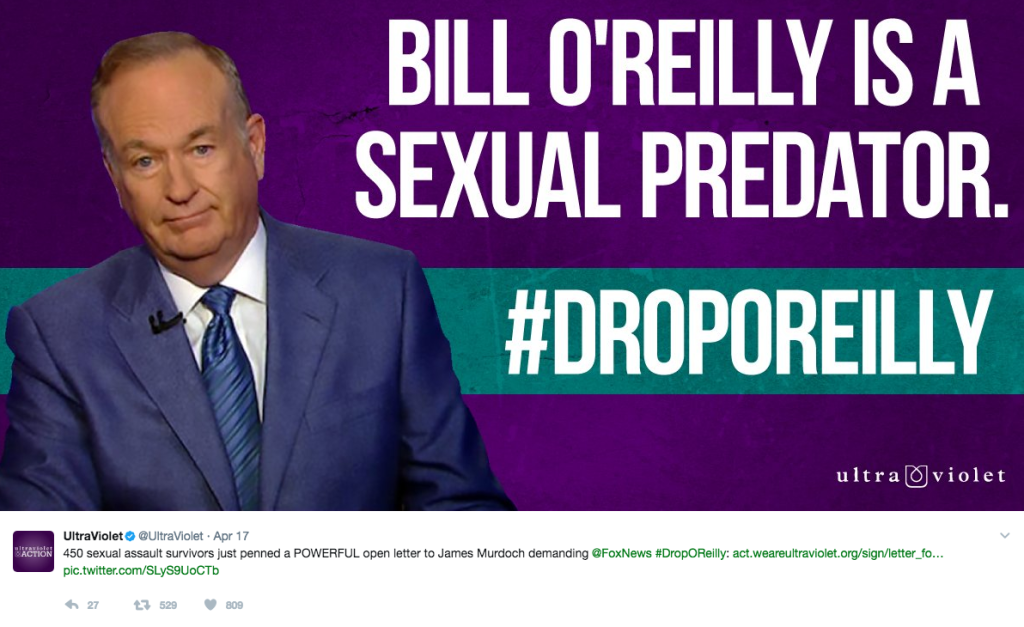 Bill O'Reilly fired for sexual harassment