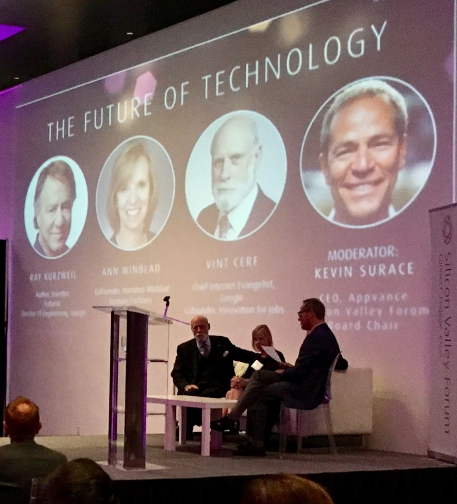 Visionary Awards 2017 Kevin Surace Vint Cerf Ann Winblad Ray Kurzweil