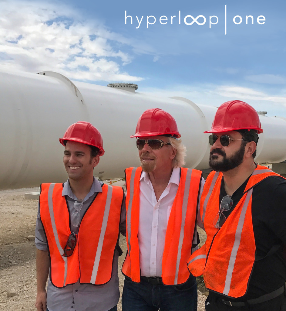 Virgin Hyperloop One team: Branson, Pishevar, Giegel
